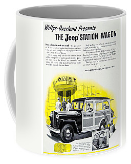 1946 - Willys Overland Jeep Station Wagon Advertisement - Color Coffee Mug