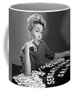 1950s 1960s Portrait Blonde Woman Coffee Mug