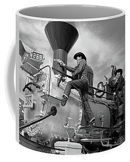 1950s 1960s Two Cowboy Bandits Western Coffee Mug