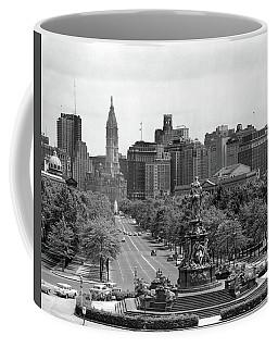 1950s Benjamin Franklin Parkway Looking Coffee Mug