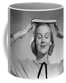 1950s Blond Woman Smiling With Eyes Coffee Mug