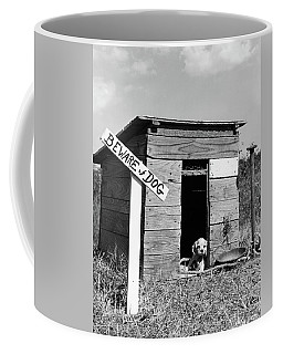 1950s Cocker Spaniel Puppy In Doghouse Coffee Mug