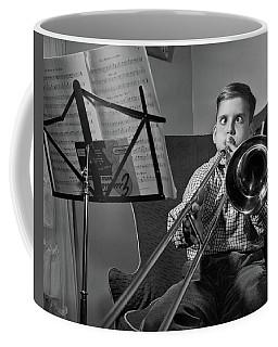 1950s Funny Cross-eyed Boy Playing Coffee Mug
