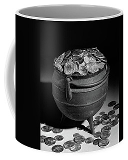 1950s Iron Pot Overflowing With Coins Coffee Mug