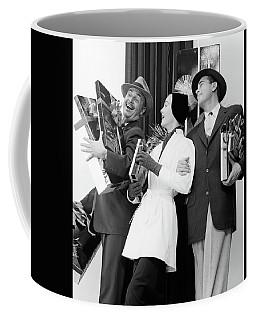 1950s Joyous Laughing Woman And Two Men Coffee Mug