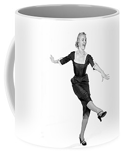 1950s Laughing Happy Excited Woman Coffee Mug