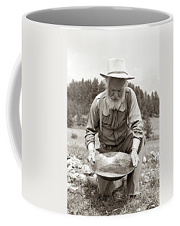 1950s Male Prospector Panning For Gold Coffee Mug