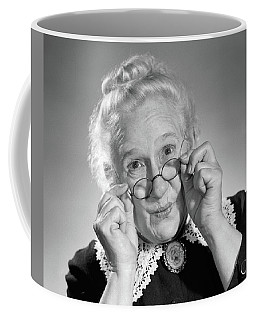 1950s Portrait Of Smiling Old Lady Coffee Mug