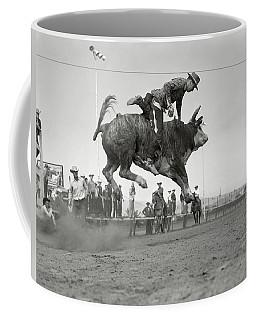 1950s Rodeo Bull Riding Cowboy Coffee Mug