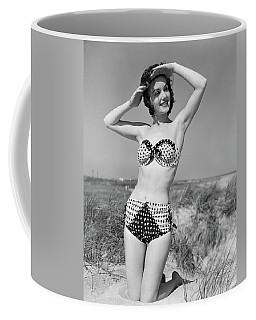 1950s Smiling Young Woman Kneeling Coffee Mug