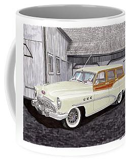 1953 Buick Estate Wagon Woody Coffee Mug by Jack Pumphrey