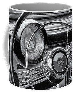 1953 Buick Super Dashboard And Steering Wheel Bw Coffee Mug