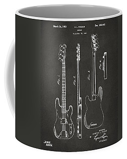 1953 Fender Bass Guitar Patent Artwork - Gray Coffee Mug