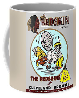 Coffee Mug featuring the photograph 1954 Redskins Browns Program by Paul Van Scott