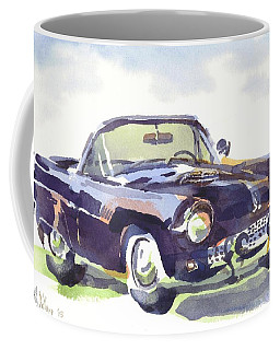 Coffee Mug featuring the painting 1955 Thunderbird by Kip DeVore