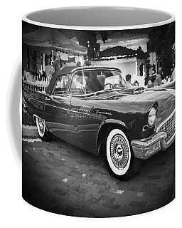 1957 Ford Thunderbird Convertible Bw Coffee Mug
