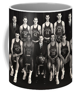 1959 University Of Michigan Basketball Team Photo Coffee Mug