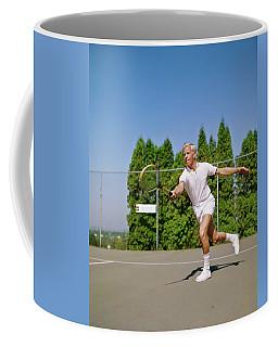 1960s Blonde Man Wearing Tennis Whites Coffee Mug