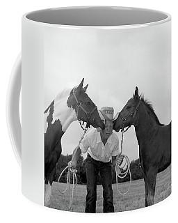 1960s Boy Wearing Cowboy Hat Holding Coffee Mug
