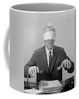1960s Business Man Hands Hovering Coffee Mug