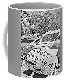 1960s Car Just Married Sign On Trunk Coffee Mug