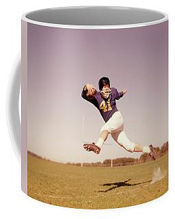 1960s Jumping Running Football Player Coffee Mug