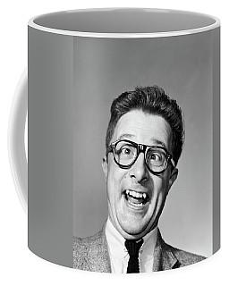 1960s Laughing Man Wearing Black Coffee Mug