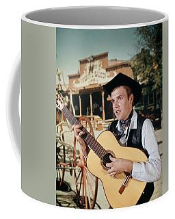 1960s Man Singing Cowboy Strumming Coffee Mug