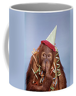 1960s Orangutan Pongo Pygmaeus Finger Coffee Mug