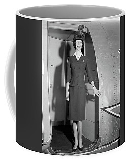 1960s Smiling Stewardess Standing Coffee Mug