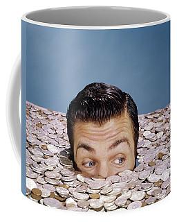 1960s Top Of Head And Eyes Of Man Coffee Mug