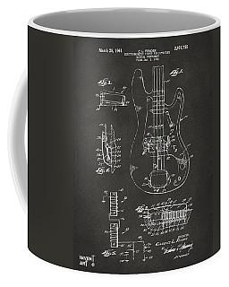 1961 Fender Guitar Patent Artwork - Gray Coffee Mug