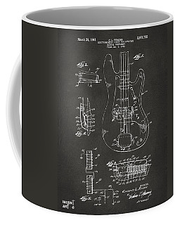 1961 Fender Guitar Patent Artwork - Gray Coffee Mug by Nikki Marie Smith