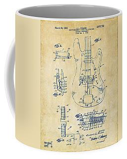 1961 Fender Guitar Patent Artwork - Vintage Coffee Mug