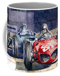 1961 Monaco Gp #36 Ferrari 156 Ginther  #18 Brm Climax P48 G Hill Coffee Mug