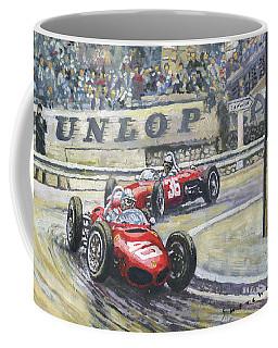 1961 Monaco Gp Ferrari 156 #40 Trips #36 Ginther Coffee Mug