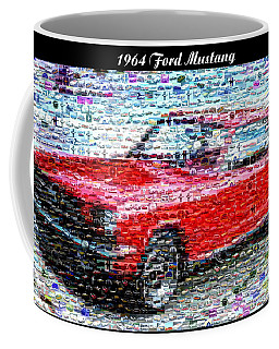 Coffee Mug featuring the painting 1964 Ford Mustang Mosaic by Paul Van Scott