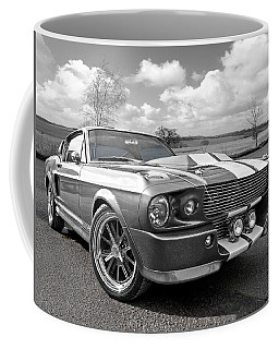 1967 Eleanor Mustang In Black And White Coffee Mug
