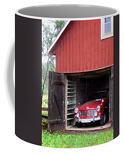 1967 Volvo In Red Sweden Barn Coffee Mug