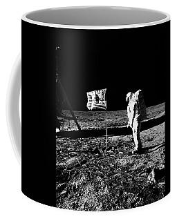 1969 Astronaut Us Flag And Leg Of Lunar Coffee Mug