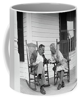 1970s Elderly Couple In Rocking Chairs Coffee Mug