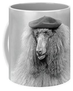 1970s French Poodle Wearing Beret Coffee Mug