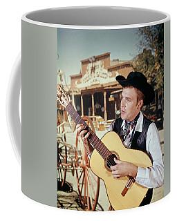 1970s Man Guitar Cowboy Strumming Coffee Mug