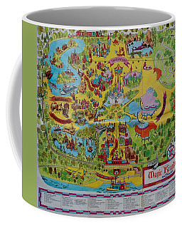 1971 Original Map Of The Magic Kingdom Coffee Mug