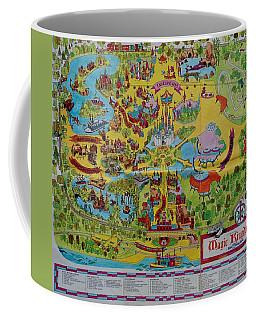 1971 Original Map Of The Magic Kingdom Coffee Mug by Rob Hans