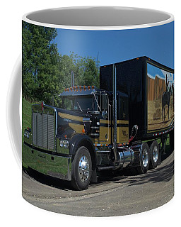 Smokey And The Bandit Tribute 1973 Kenworth W900 Black And Gold Semi Truck Coffee Mug by Tim McCullough
