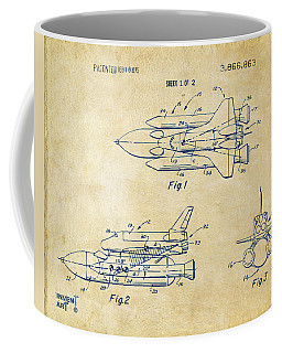 1975 Space Shuttle Patent - Vintage Coffee Mug