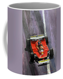 1980 Monaco Gp Gilles Villeneuve Ferrari 312 T5  Coffee Mug