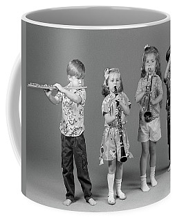1980s Two Boys And Two Girls Playing Coffee Mug