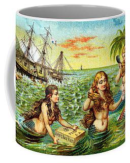 19th C. Mermaids At Ship Wreck Coffee Mug